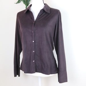 🍀J. Jill Long Sleeve Blouse Collared Button Up